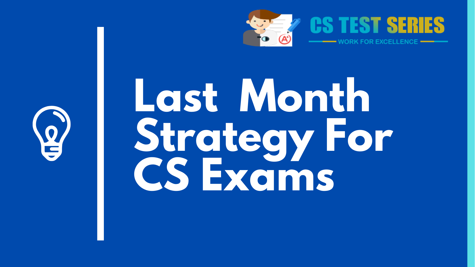 THE LAST PREPARATION Strategy For CS Students | CS Test Series