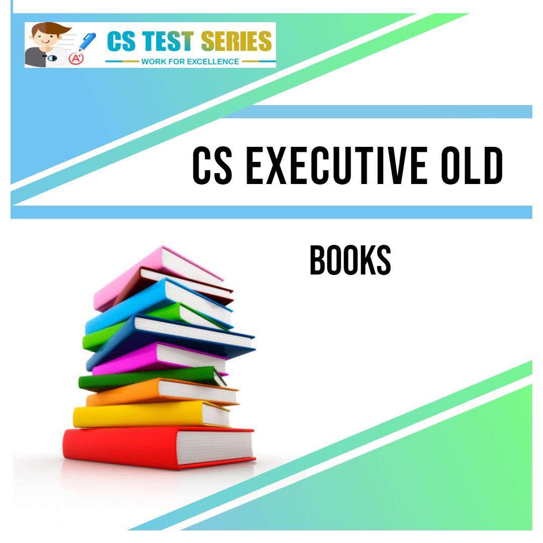 CS Executive Old Syllabus Books