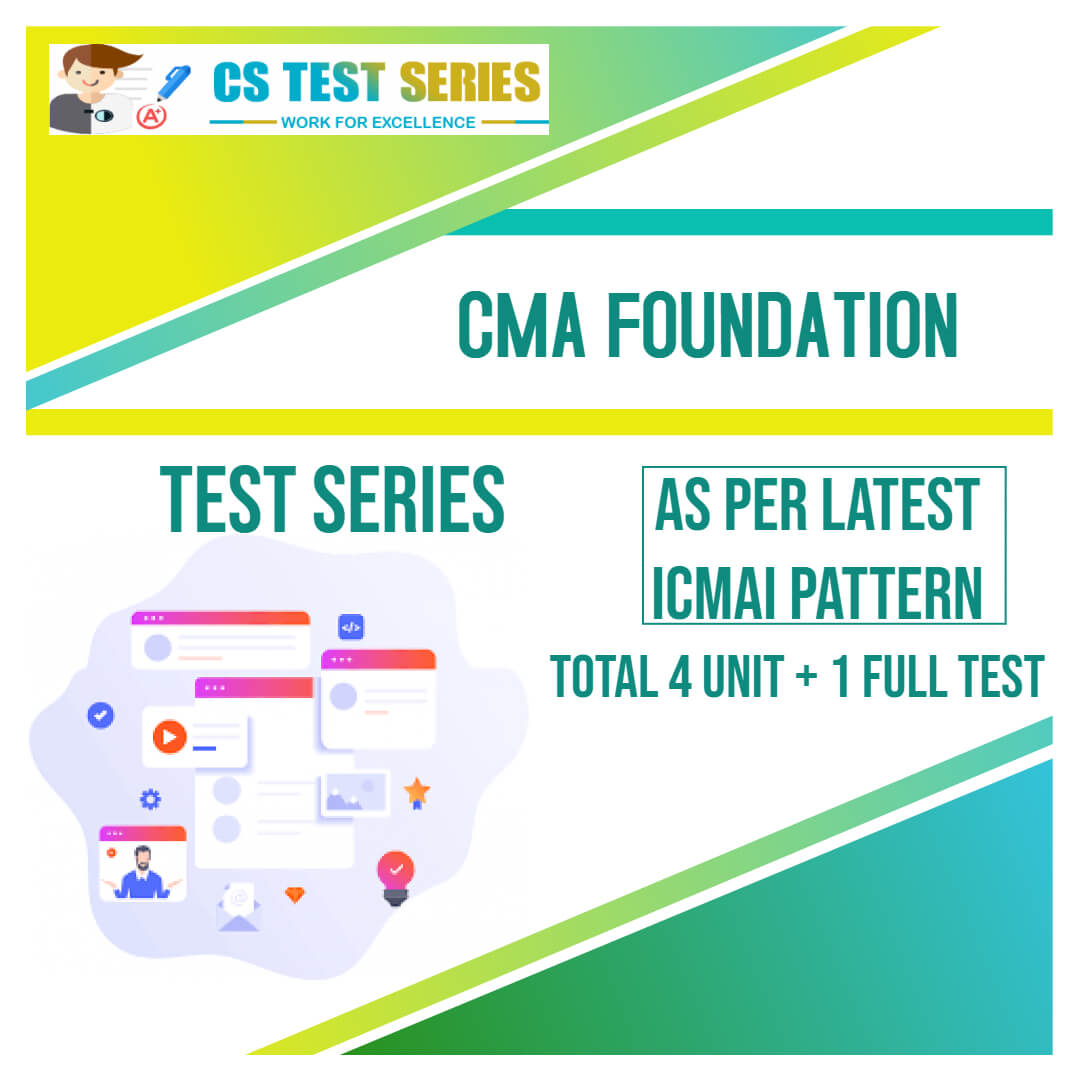 CMA Foundation Test Series