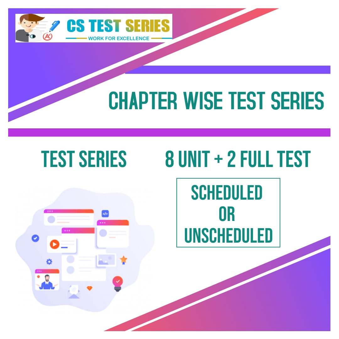 Chaper Wise Test Series
