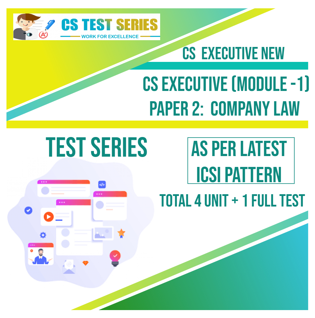 CS EXECUTIVE NEW PAPER 2: Company law