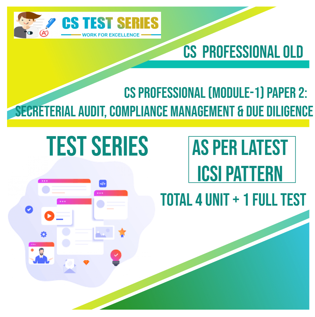 CS PROFESSIONAL OLD PAPER 2: Secreterial Audit, Compliance Management & Due Diligence