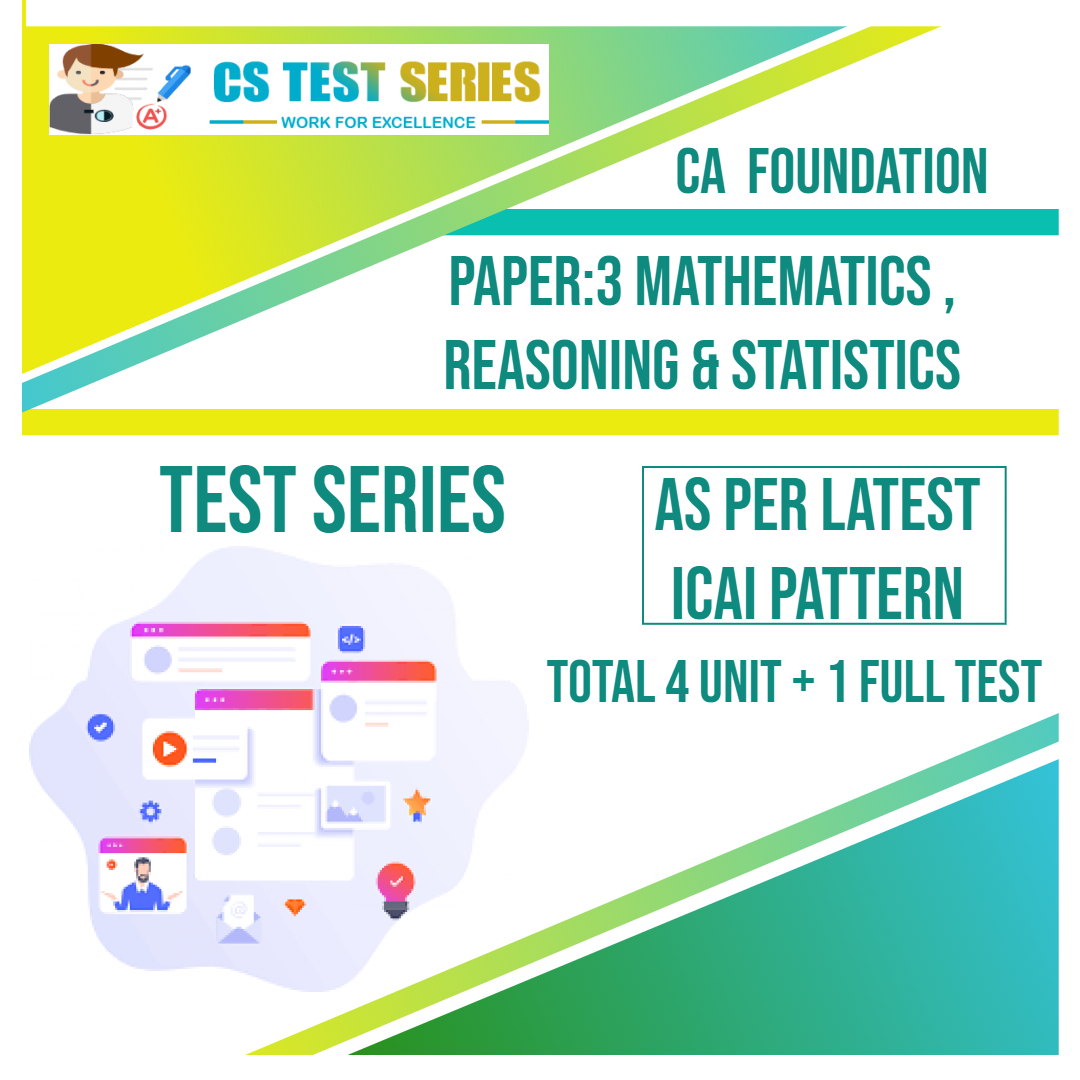 CA FOUNDATION PAPER:3 Mathematics And Reasoning