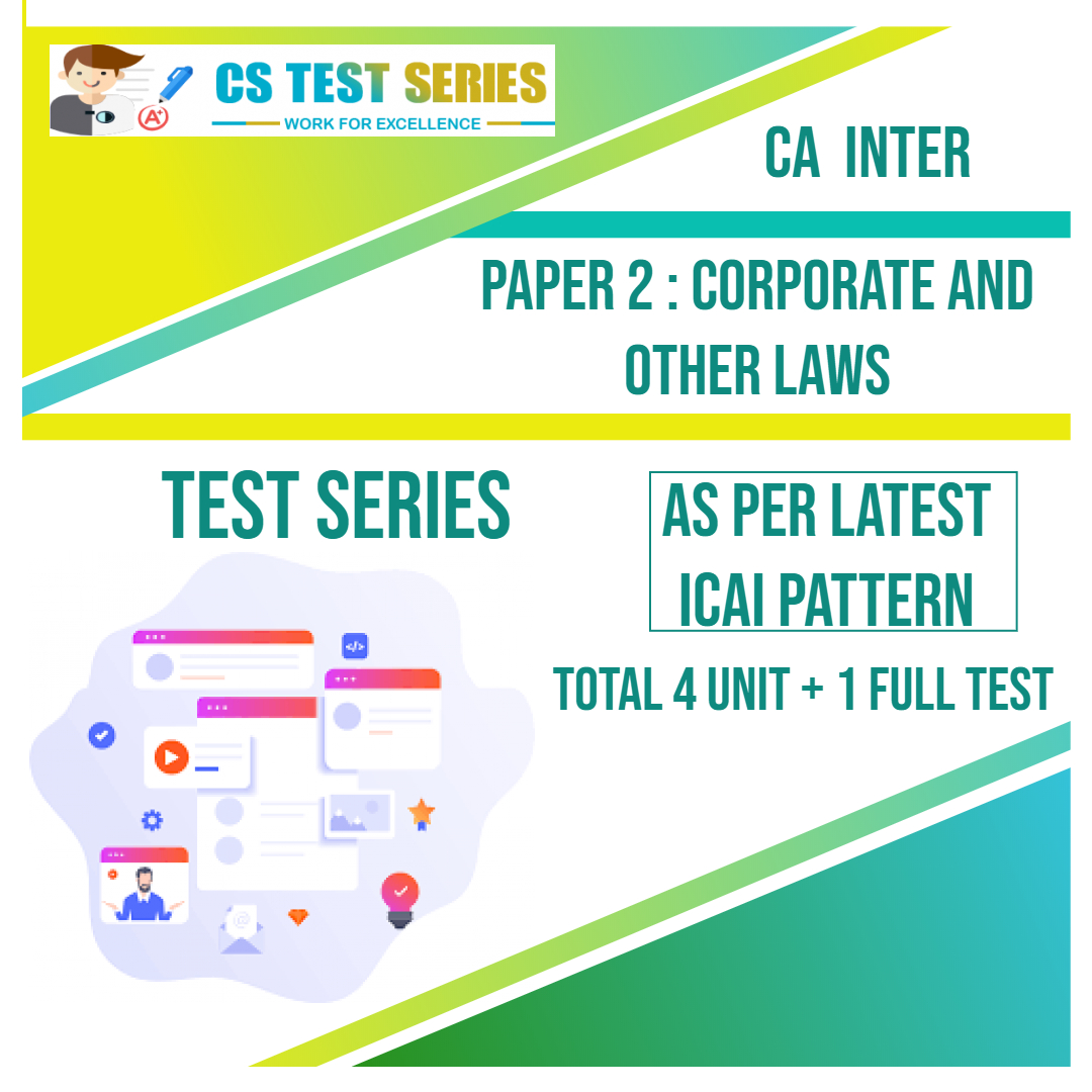 CA INTER PAPER 2 : Corporate and Other Laws
