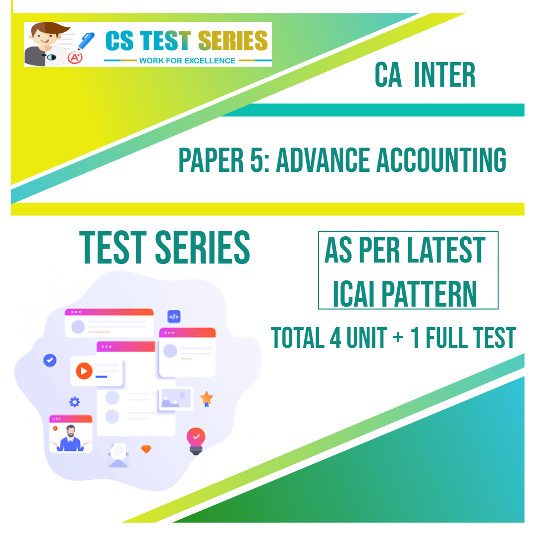 CA INTER PAPER 5: Advance Accounting