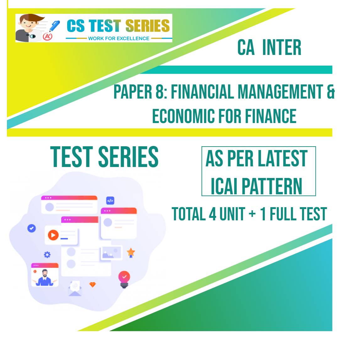 CA INTER PAPER 8: Financial Management & Economic for Finance