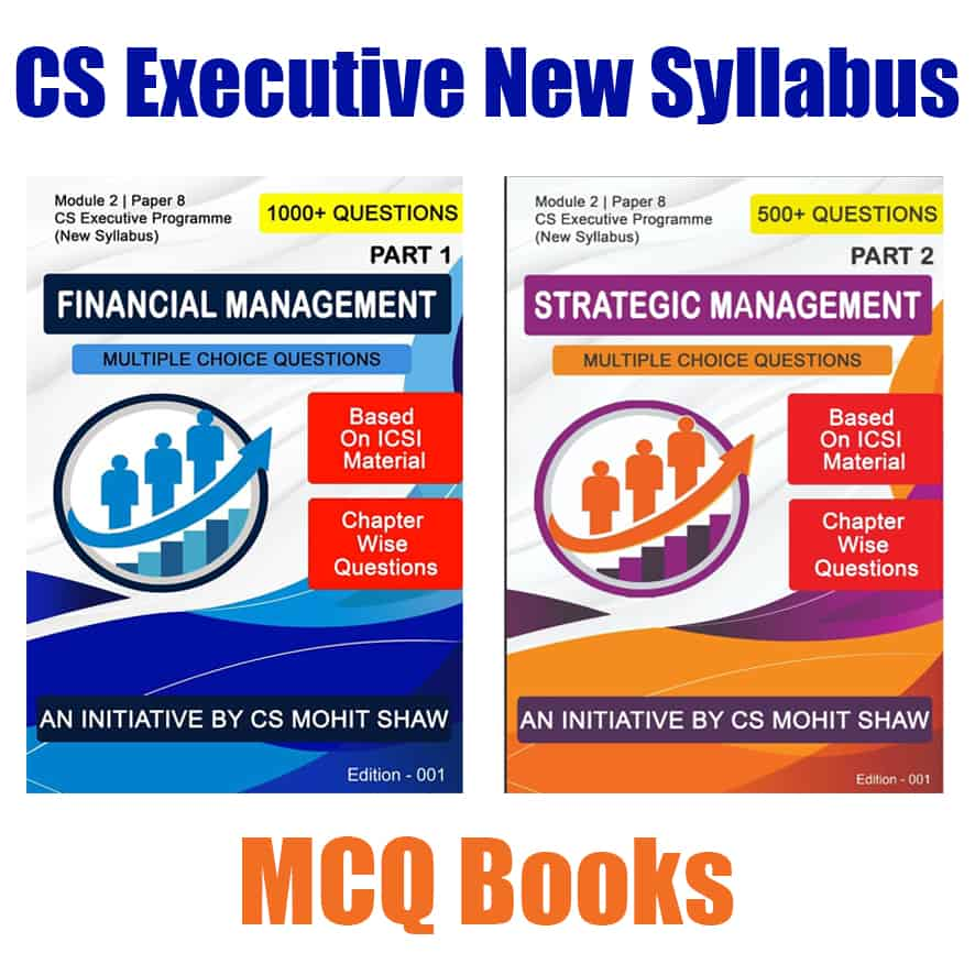 CS Executive Financial Strategic Management MCQ Book by CS Mohit Shaw
