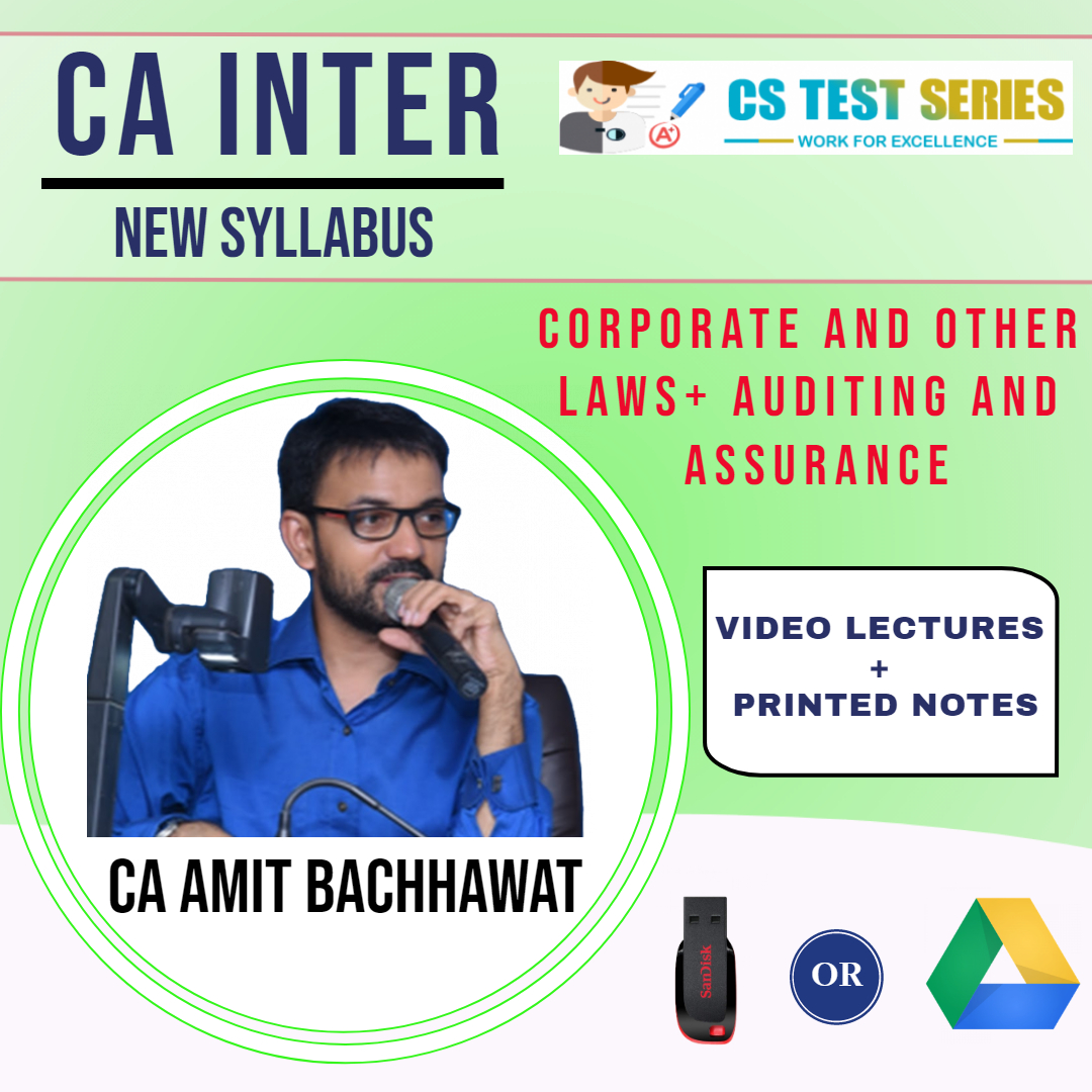 CA- Inter, Corporate and Other Laws + CA- Inter, Auditing and Assurance