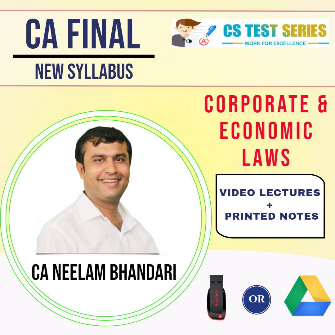 CA Final (New) Corporate & Economic Laws By Neelam Kumar Bhandari