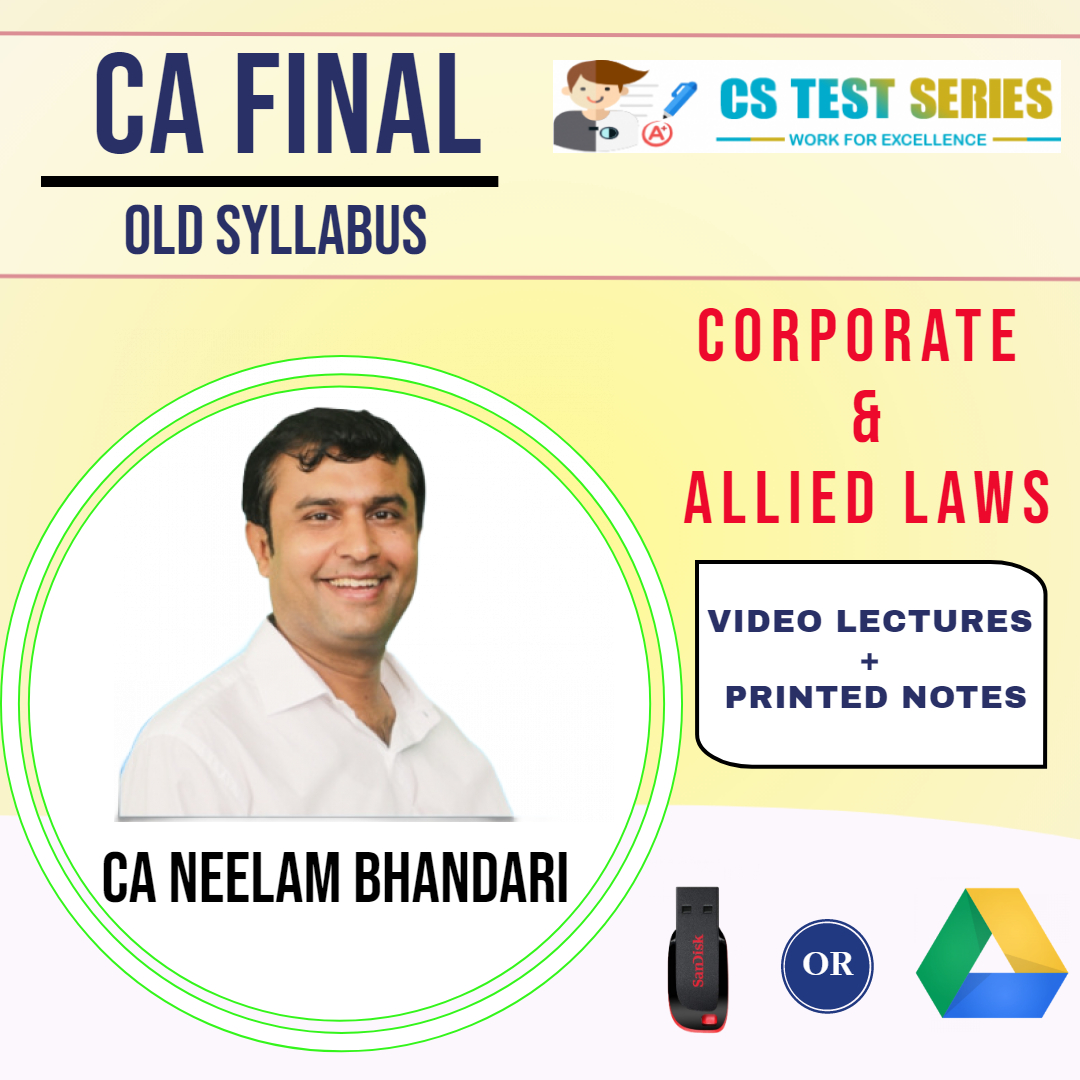 CA FINAL (OLD) CORPORATE & ALLIED LAWS BY NEELAM KUMAR BHANDARI