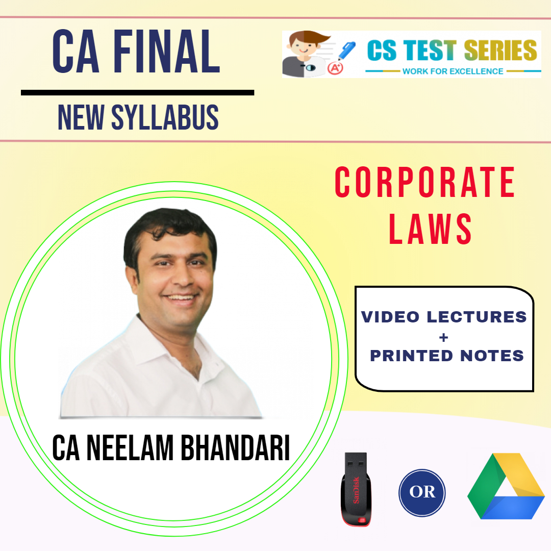 CA Final (New) Corporate Laws By Neelam Kumar Bhandari