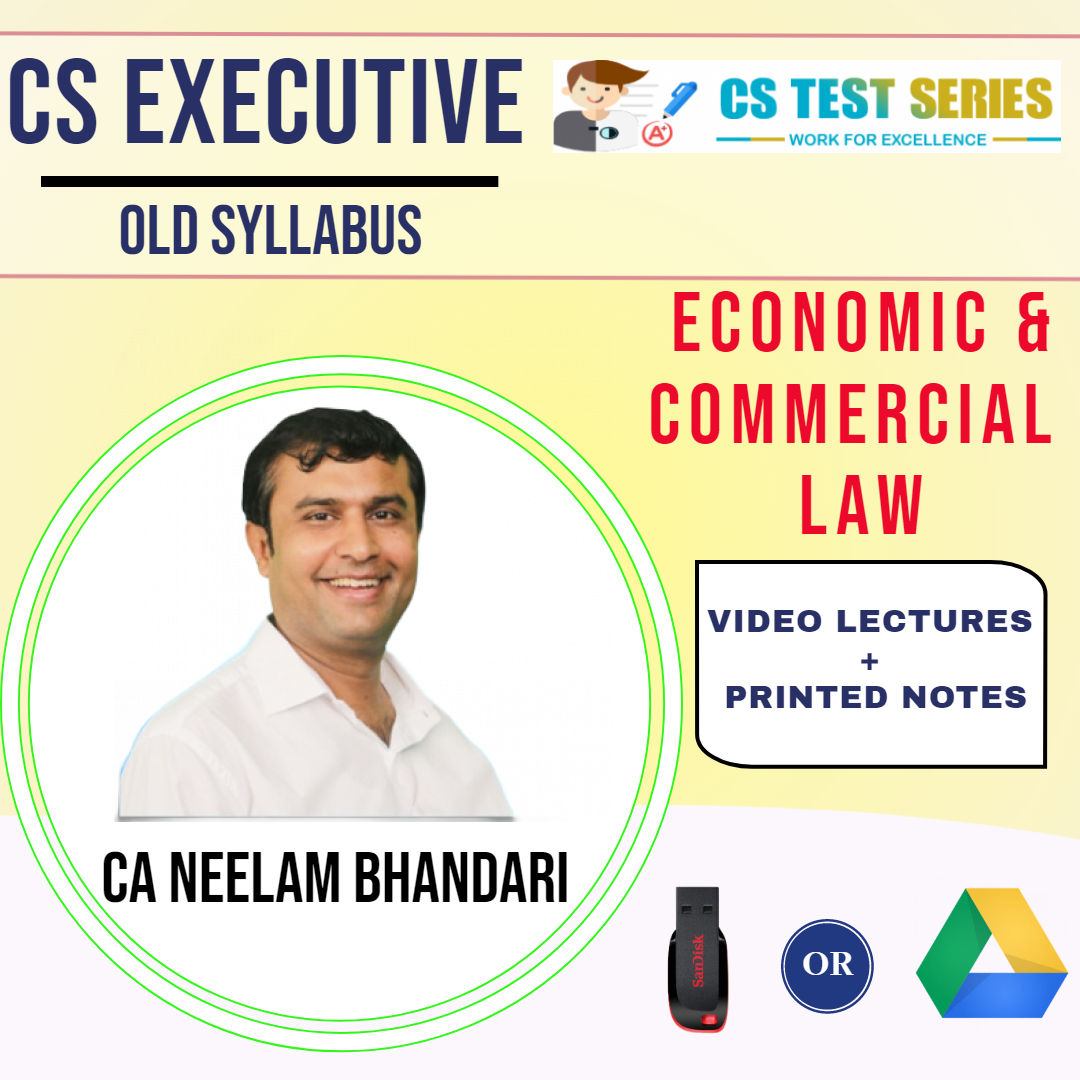 CS Executive Economic & Commercial Laws Fast Track By Neelam Bhandari