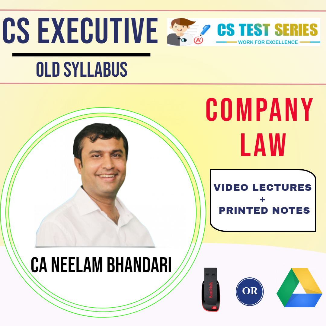 CS Executive Company Law By CA CS Neelam Kumar Bhandari