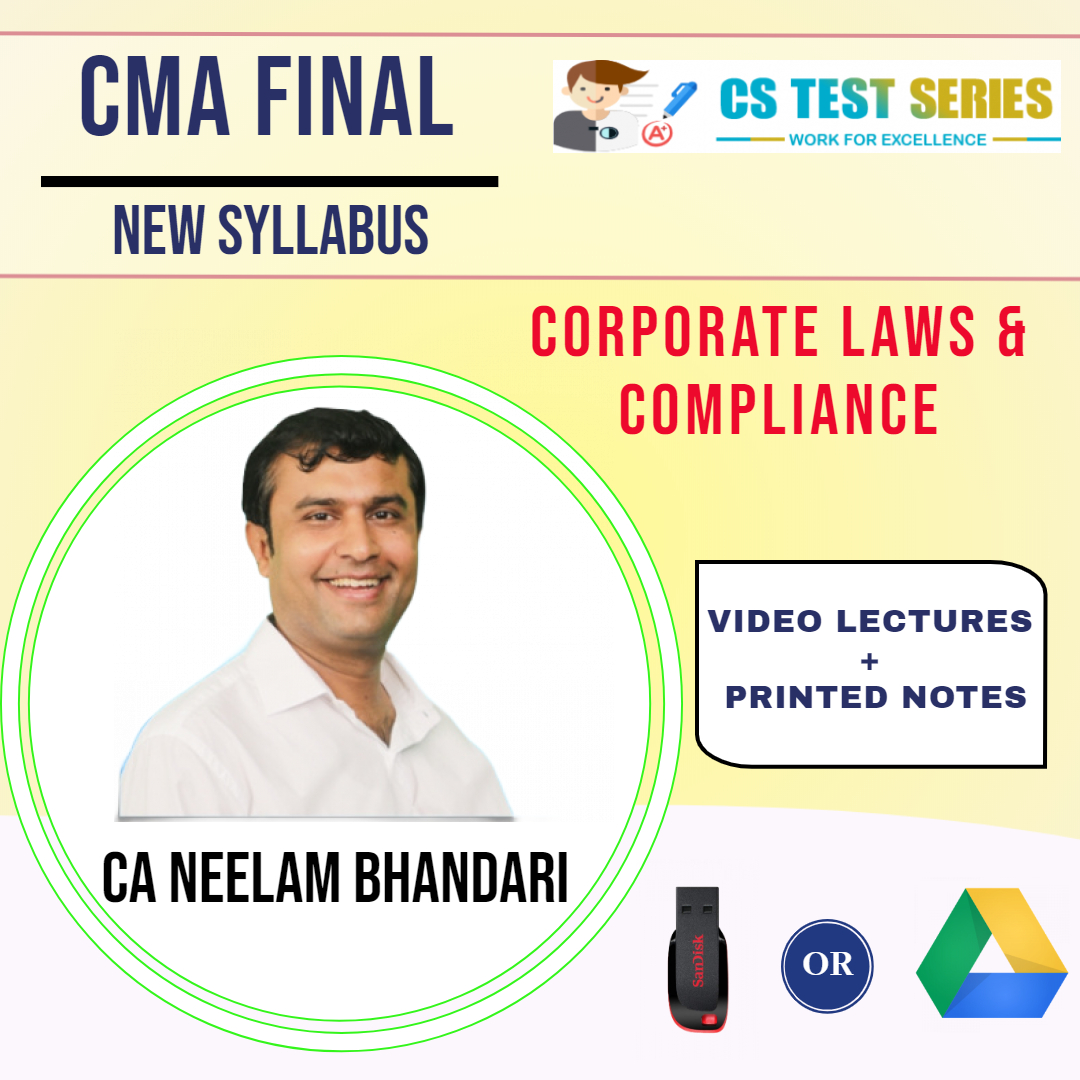 CMA Final Corporate Laws & Compliance By Neelam Kumar Bhandari