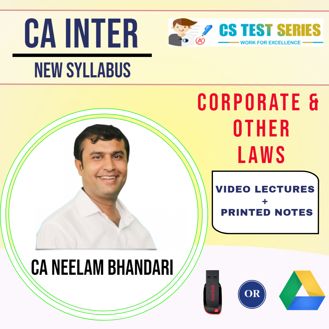 CA Inter Corporate & Other Laws Fast Track Revision By CA CS Neelam Bhandari