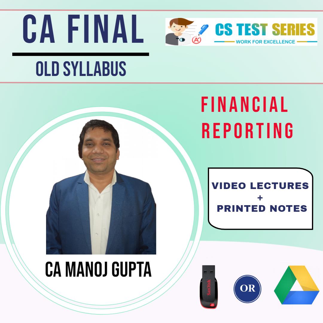 CA Final Manoj Ka FR Old Syllabus