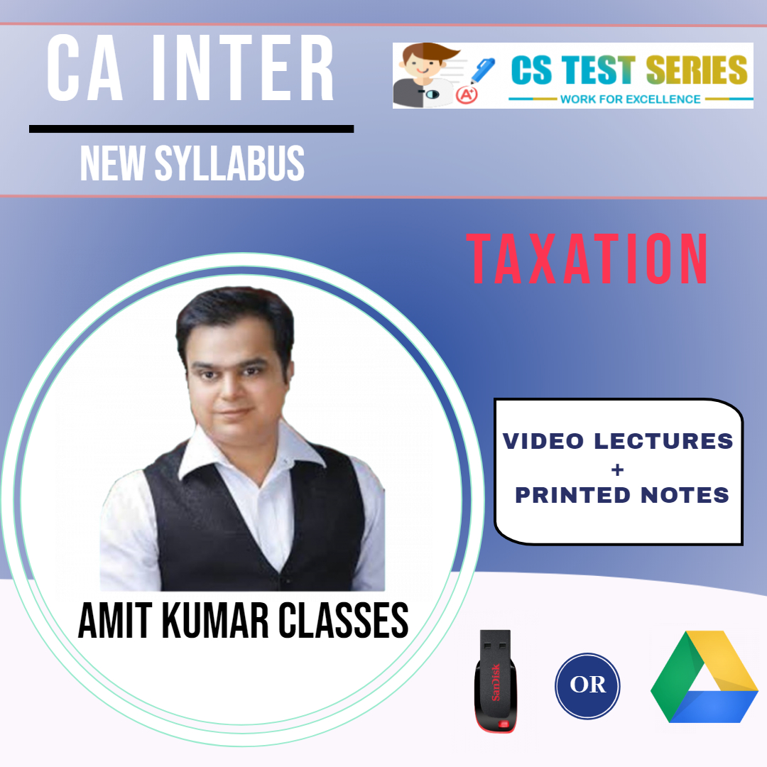 CA INTER TAXATION NEW SYLLABUS