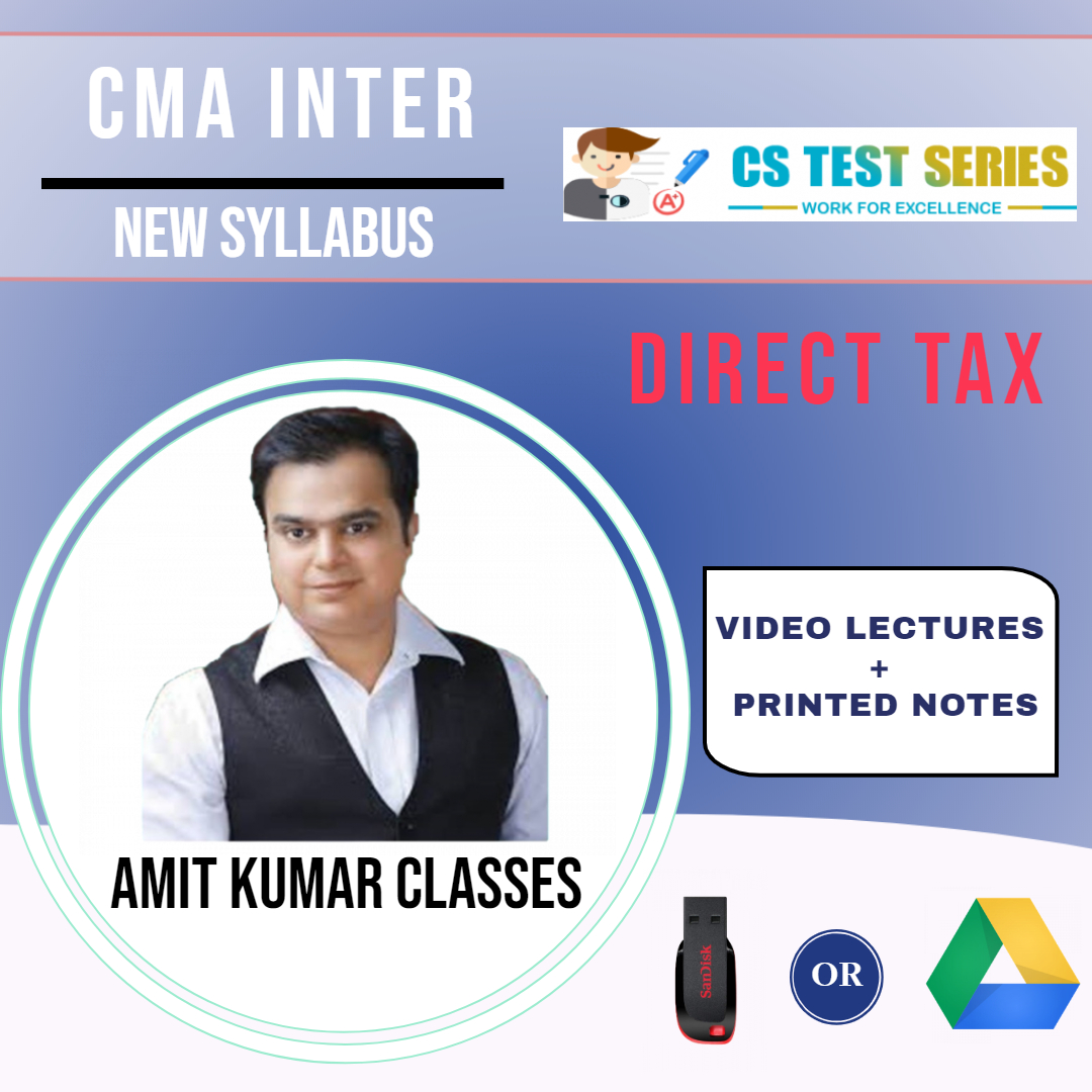 CMA INTER DIRECT TAX NEW SYLLABUS