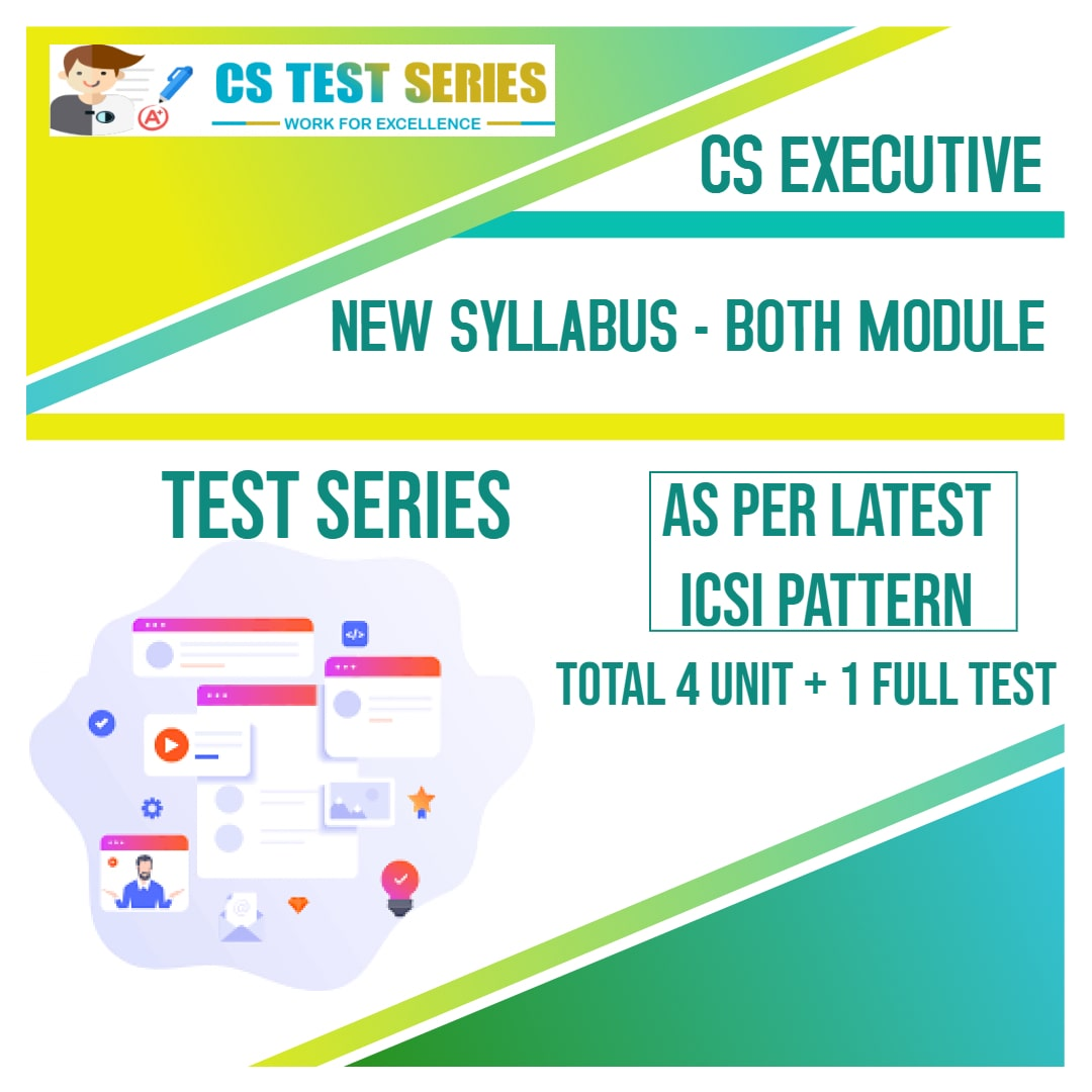 CS Executive Test Series - New Syllabus Both Module All 8 Subjects