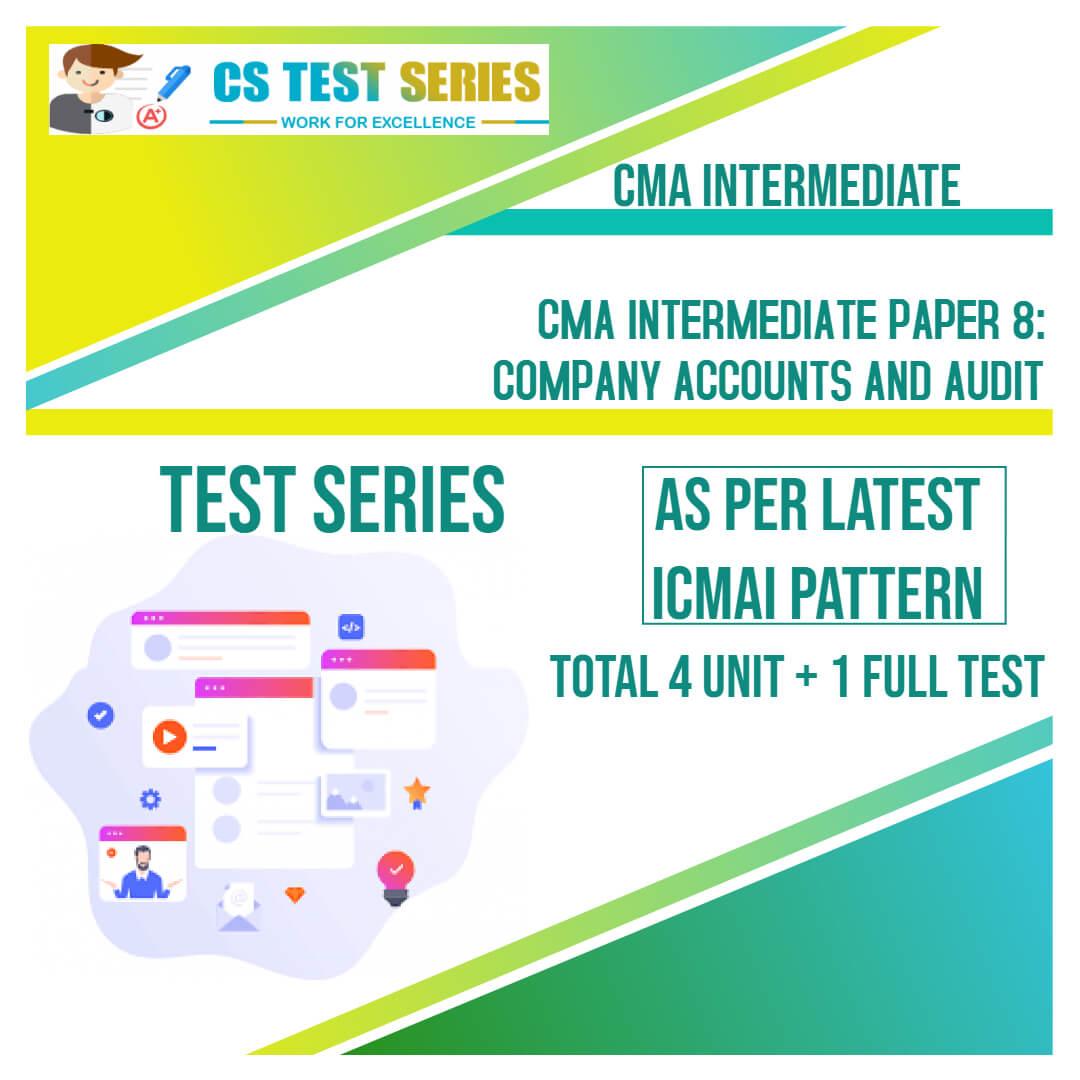 CMA Intermediate PAPER 8: Company Accounts and Audit