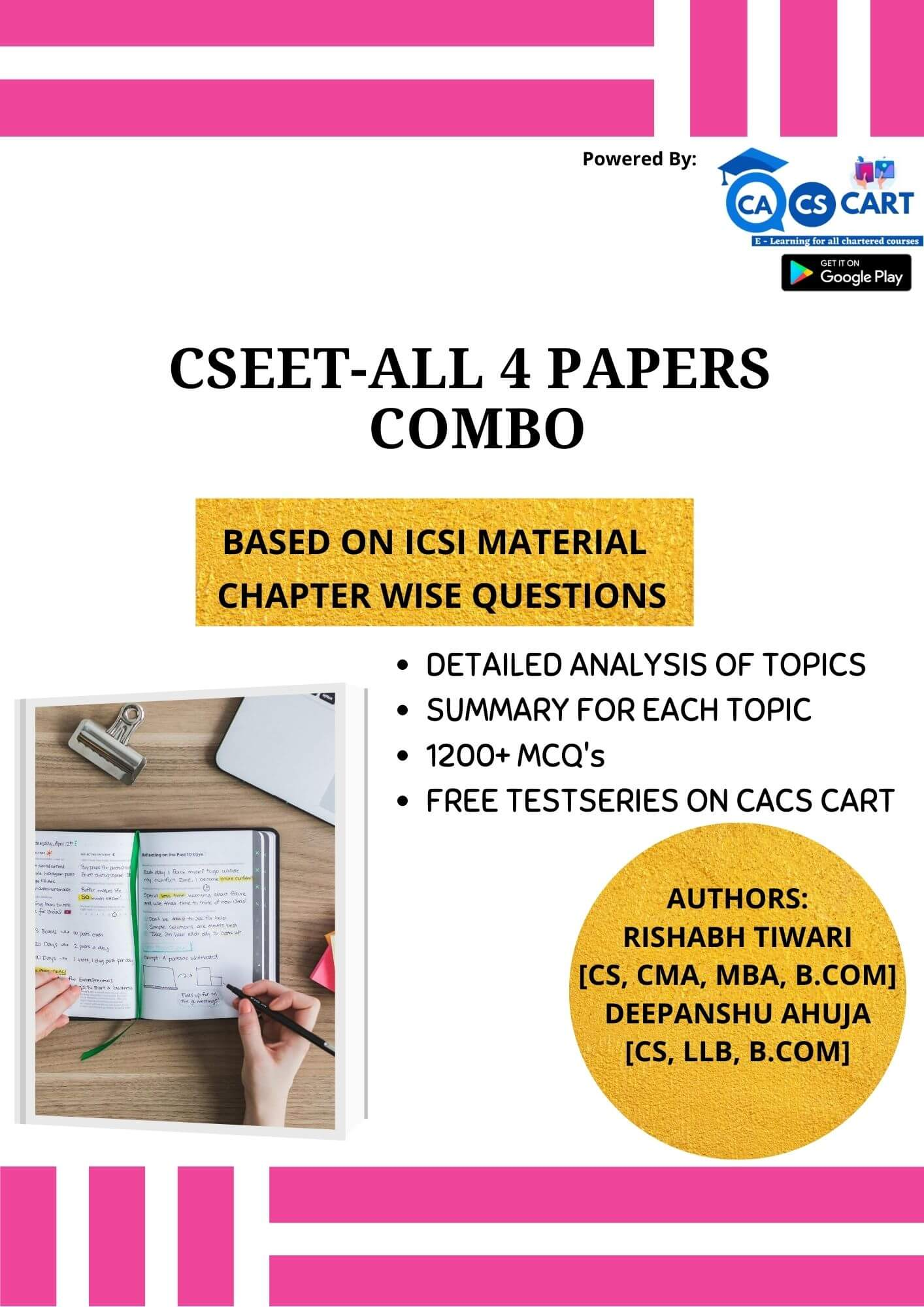 CSEET All Four Books Combo Pack With Free Test Series