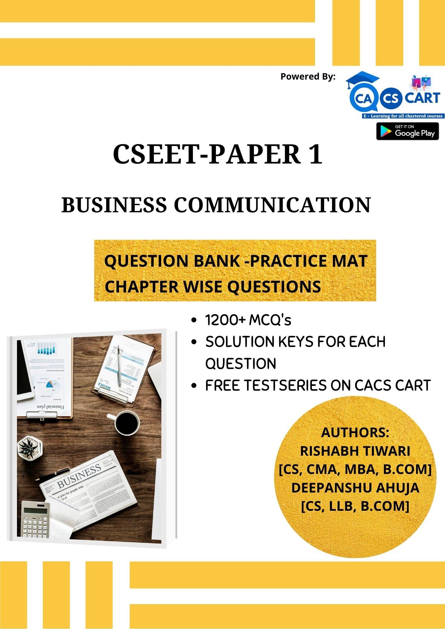 CSEET PAPER 1 - Business Communication Practice Mat