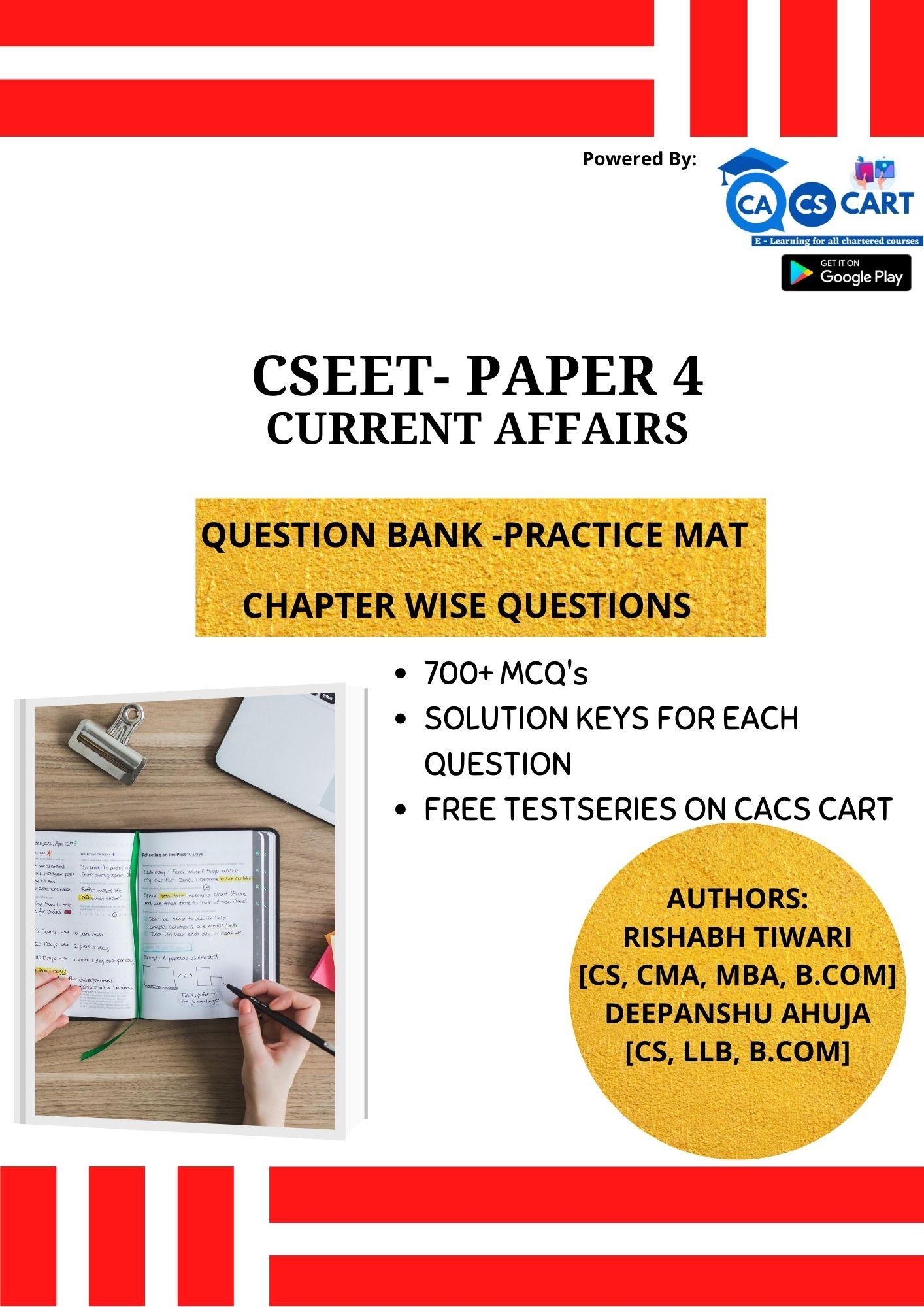 CSEET PAPER 4 Current Affairs Presentation & Skills Practice Mat