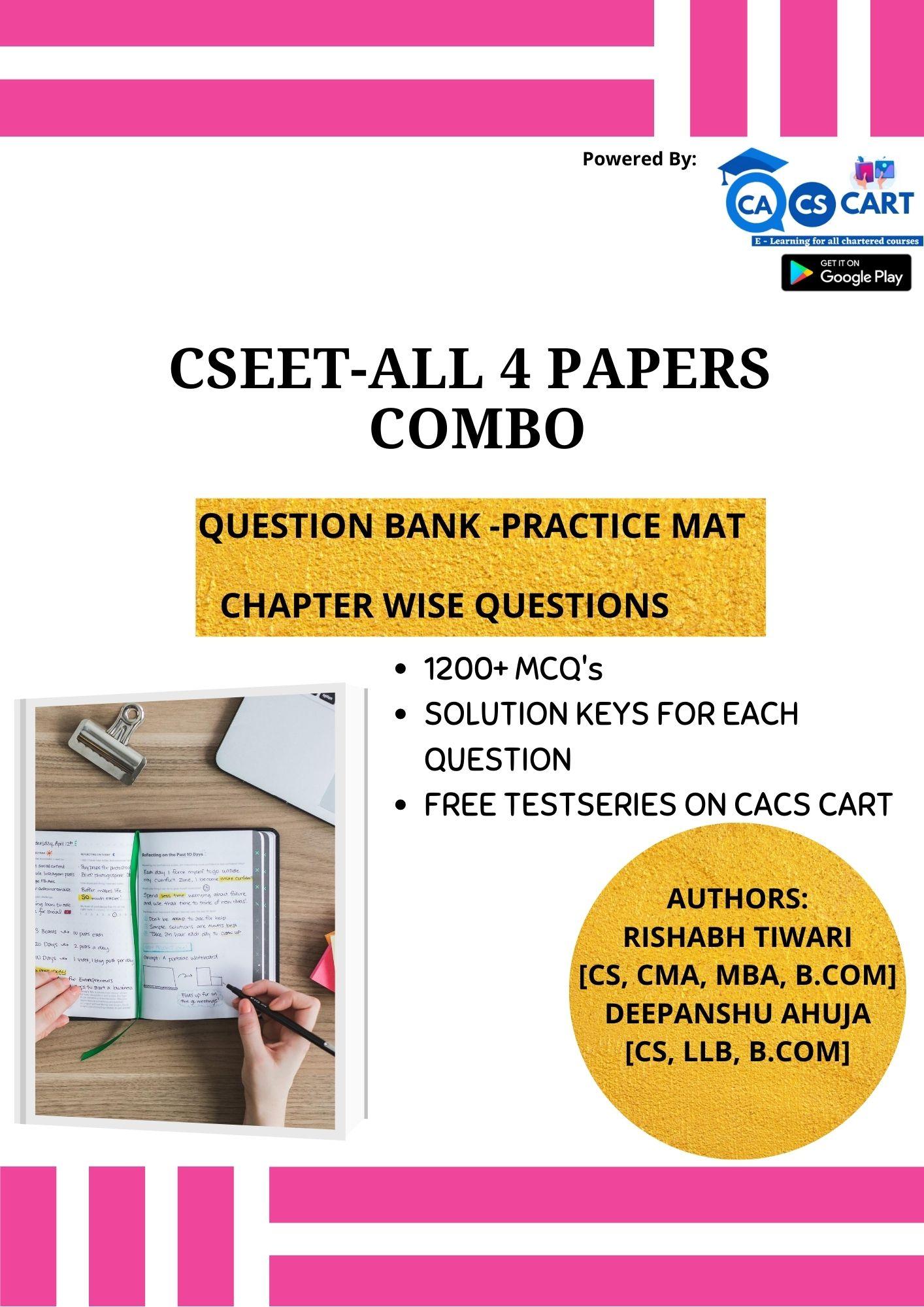 CSEET All Four Practice Mat Books Combo Pack
