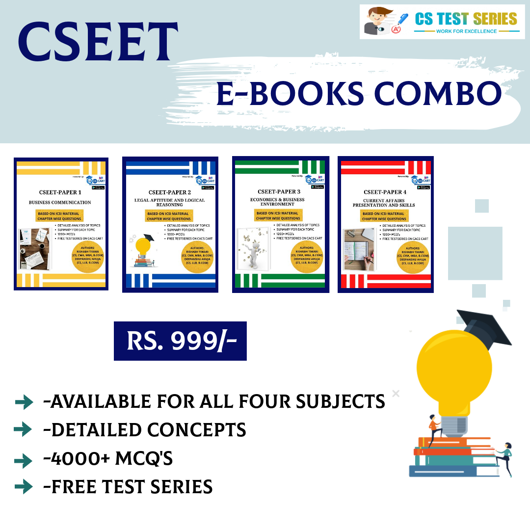 E BOOK CSEET All Four  Books Combo Pack