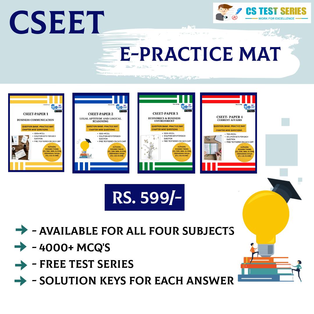 E BOOK CSEET All Four Practice Mat Books Combo Pack