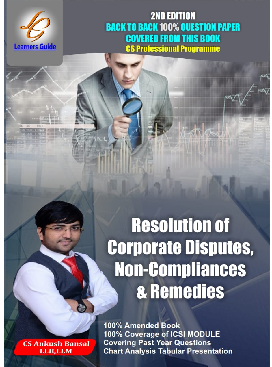 REESOLUTION OF CORPORATE DISPUTES NON COMPLIANCE AND REMEDIES By CS Ankush Bansal