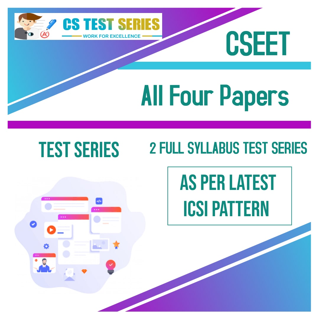 CSEET Test Series All Four Papers