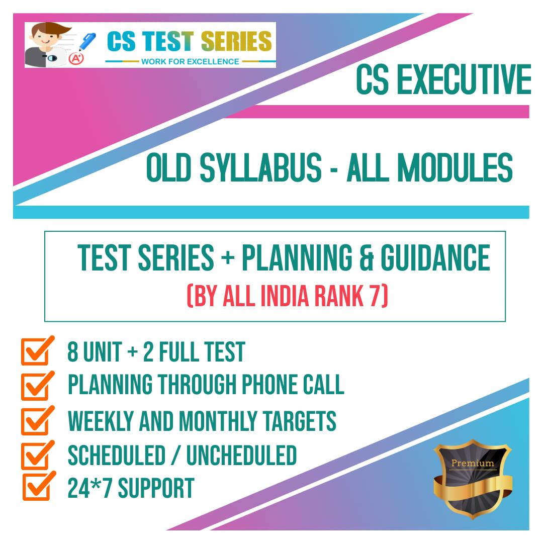 CS Executive Old Syllabus All Module 2.0