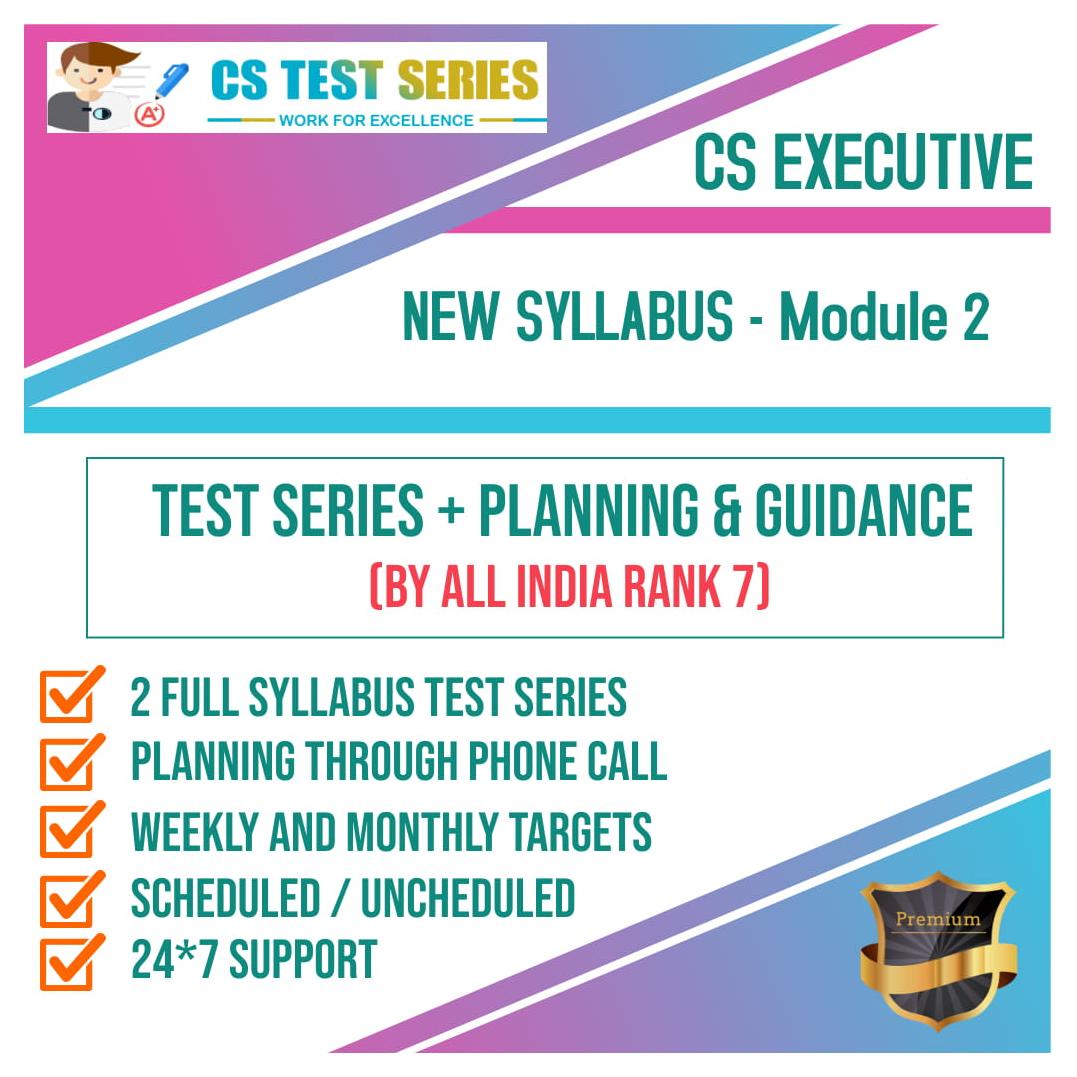 CS Executive New Syllabus Module 2 All Four Subjects 2.0