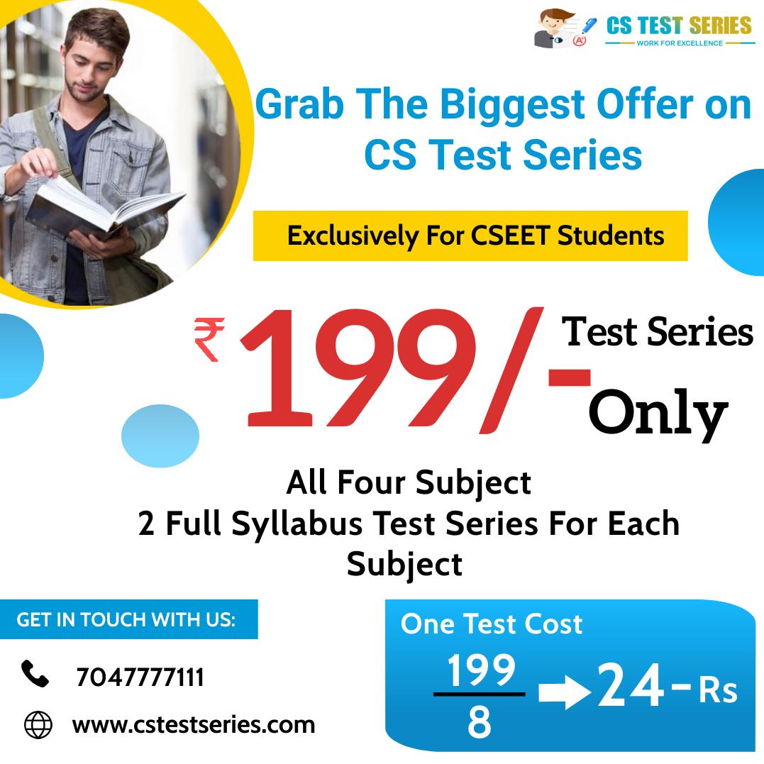 CSEET 2 Full Syllabus All Subjects Test Mock Test 100 Marks Each