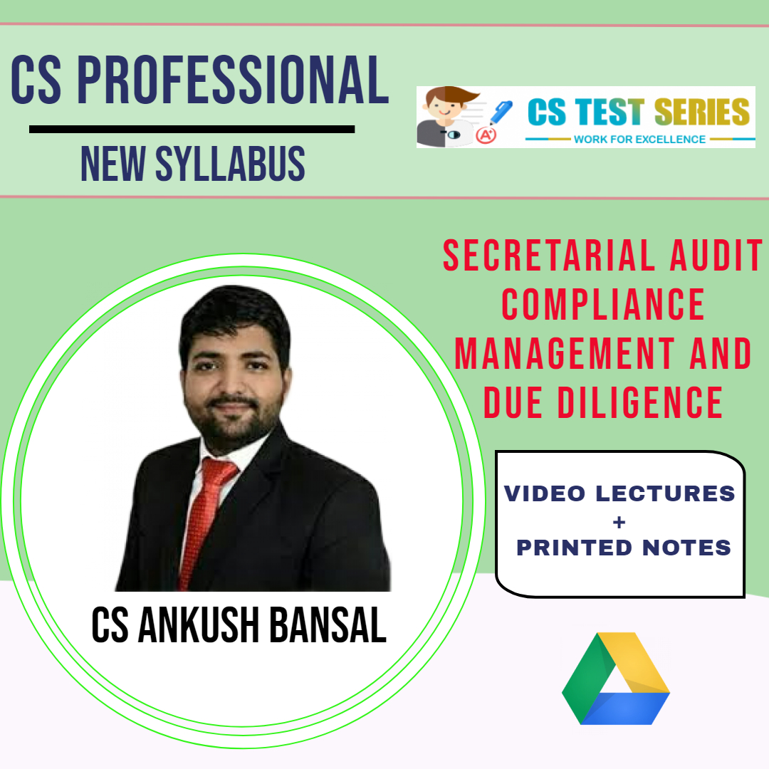 Secretarial Audit Compliance Management And Due Diligence By CS Ankush Bansal