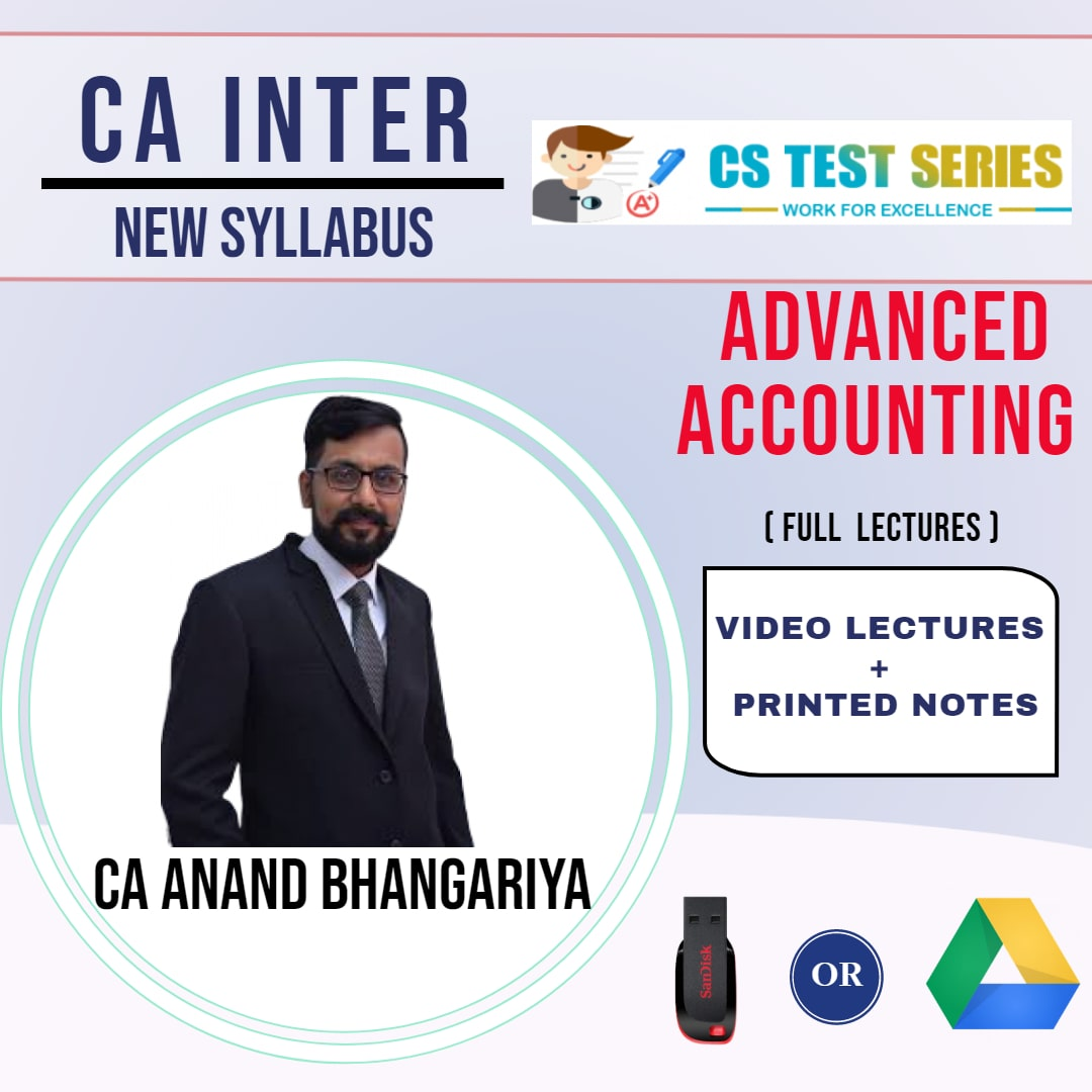 CA INTERMEDIATE GROUP II Advanced Accounting Full Lectures By CA ANAND BHANGARIYA