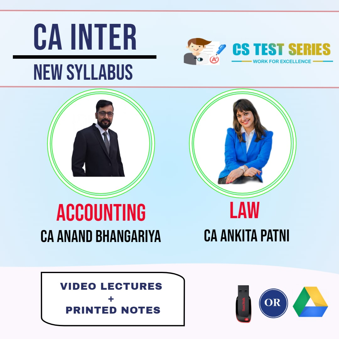 CA INTERMEDIATE COMBO ACCOUNTING AND CORPORATE AND OTHER LAWS COMBO Full Lectures By CA Ankita Patni   CA Anand Bhangariya