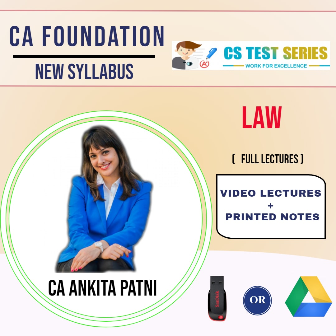 CA FOUNDATION Paper-2: Law Full Lectures By CA ANKITA PATNI