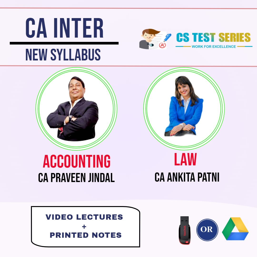 CA INTERMEDIATE COMBO ACCOUNTING AND CORPORATE AND OTHER LAWS COMBO Full Lectures By CA Pravin Jindal   CA Ankita Patni