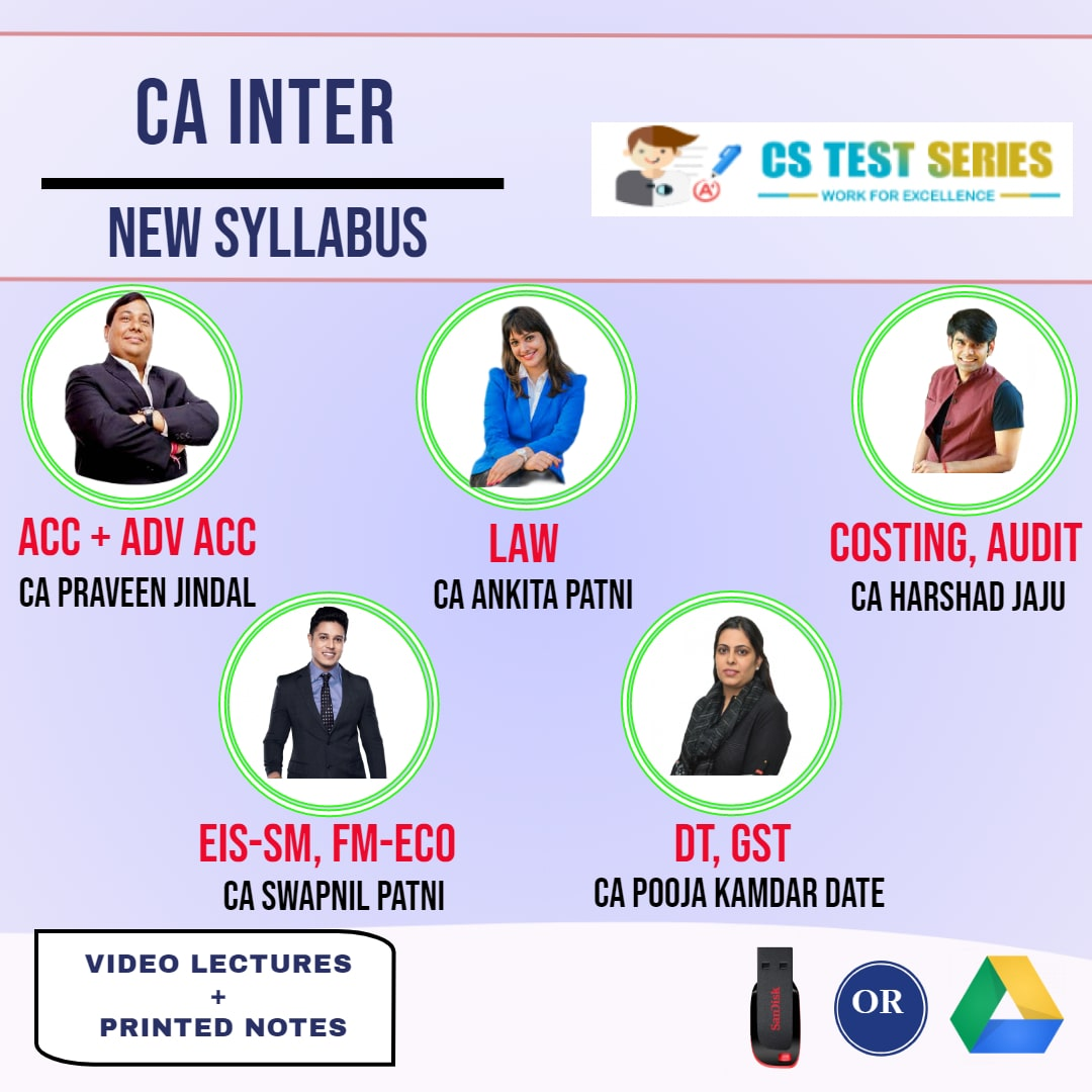 CA INTERMEDIATE COMBO Both Group Combo Full Lectures By CA Swapnil Patni CA Ankita patni CA harshad jaju CA Praveen Jindal