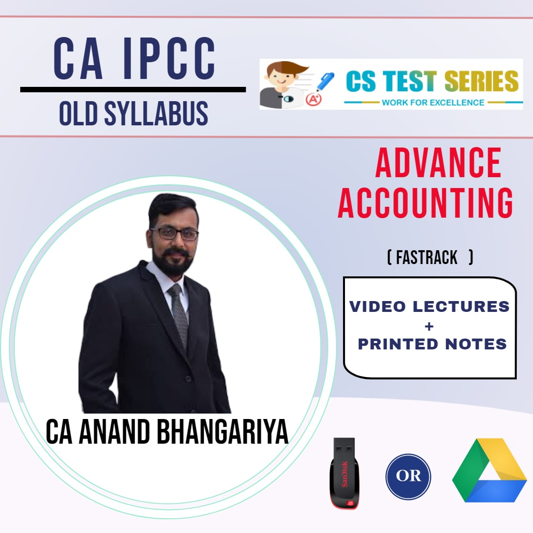CA IPCC GROUP II Advanced Accounting Fastrack Lectures By CA ANAND BHANGARIYA