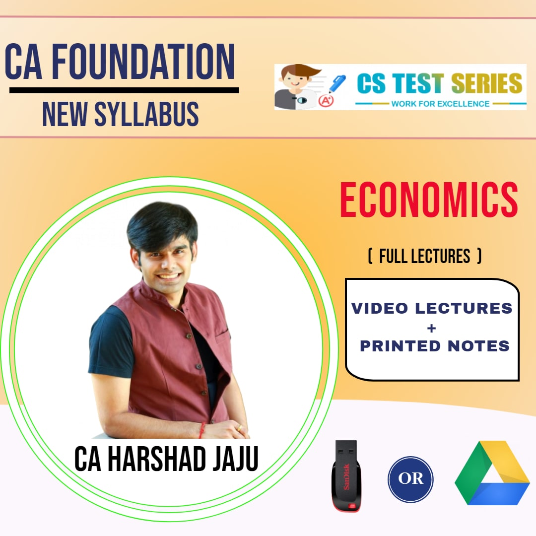 CA FOUNDATION Paper-4: Economics Full Lectures By CA HARSHAD JAJU