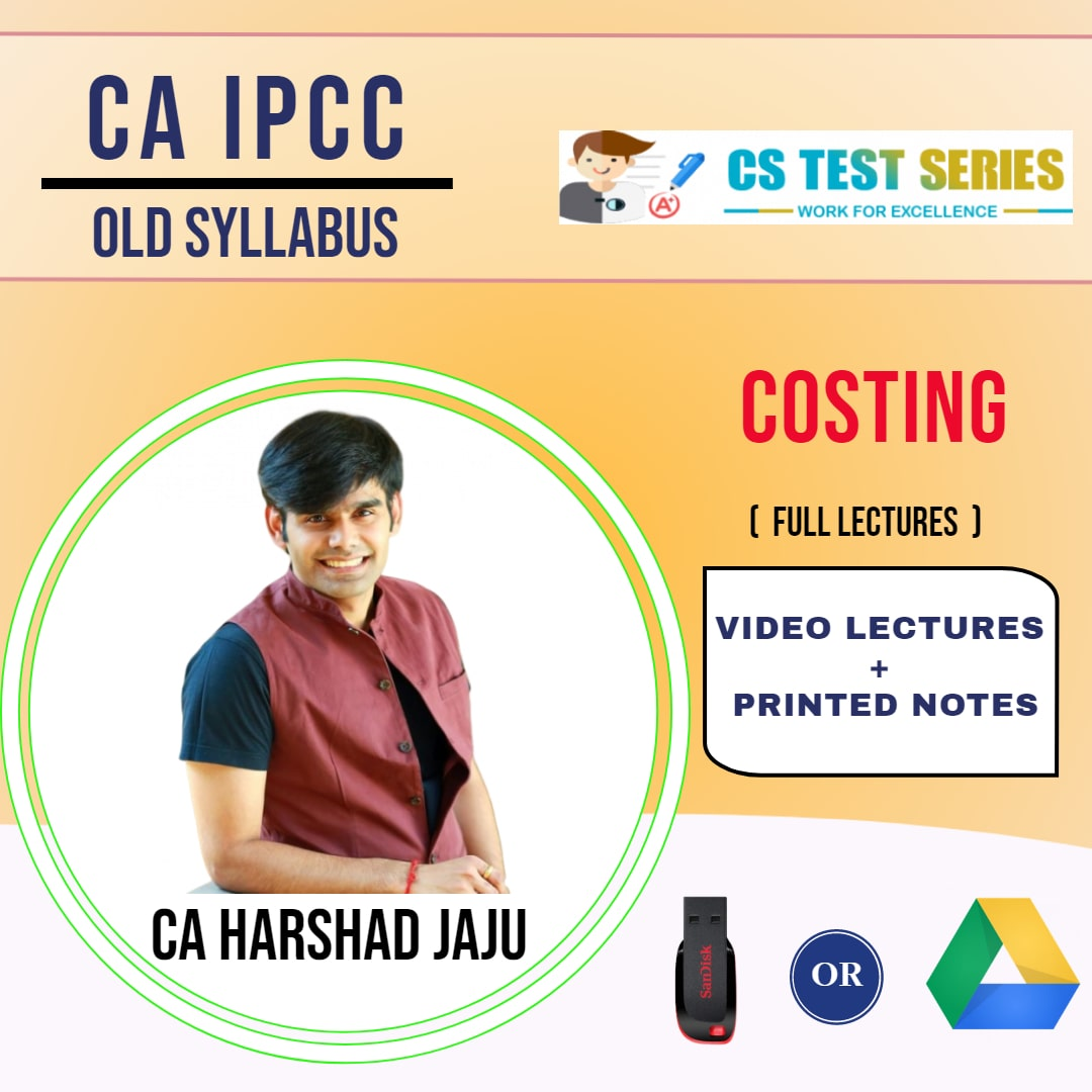 CA IPCC GROUP I CA IPCC Costing Full Lectures By CA HARSHAD JAJU
