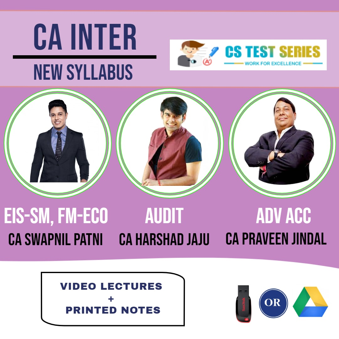 CA INTERMEDIATE COMBO Group 2 Combo Full Lectures By CA Swapnil Patni   CA Pravin Jindal  CA Harshad Jaju