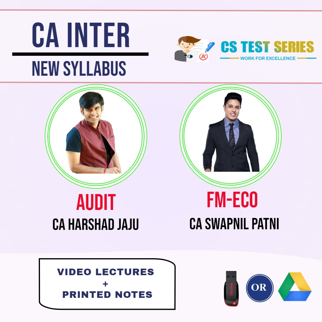 CA INTERMEDIATE COMBO AUDIT AND FM ECO COMBO Full Lectures By CA Harshad Jaju  CA Swapnil Patni