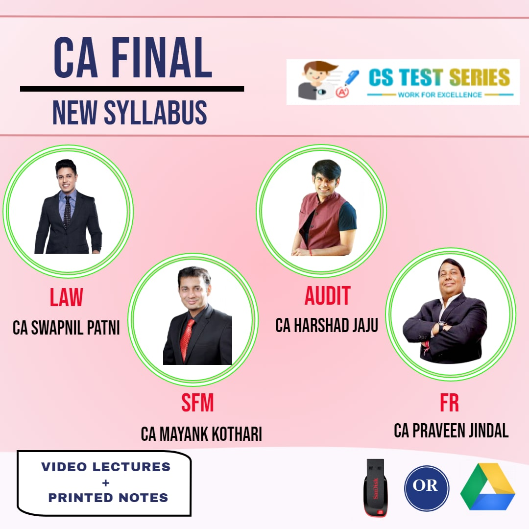 CA FINAL NEW SYLLABUS COMBO Group 1 Combo Full Lectures By CA Swapnil patni  CA Pravin Jinda  CA Mayank Kothari  CA Harshad Jaju