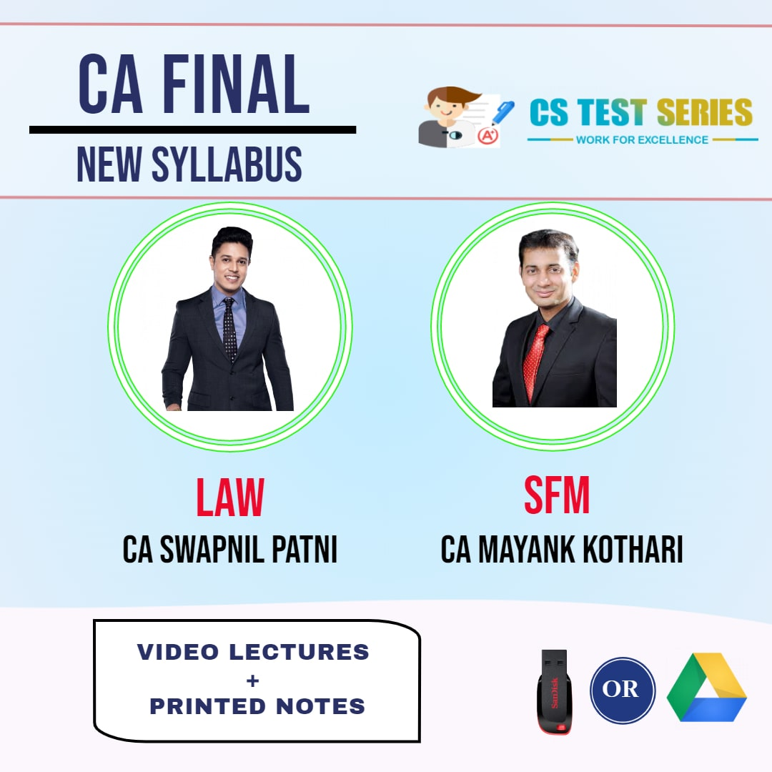 CA FINAL NEW SYLLABUS COMBO CORPORATE AND ECONOMIC LAWS AND STRATEGIC FINANCIAL MANAGEMENT COMBO Full Lectures By CA SWAPNIL PATNI   CA MAYANK KOTHARI