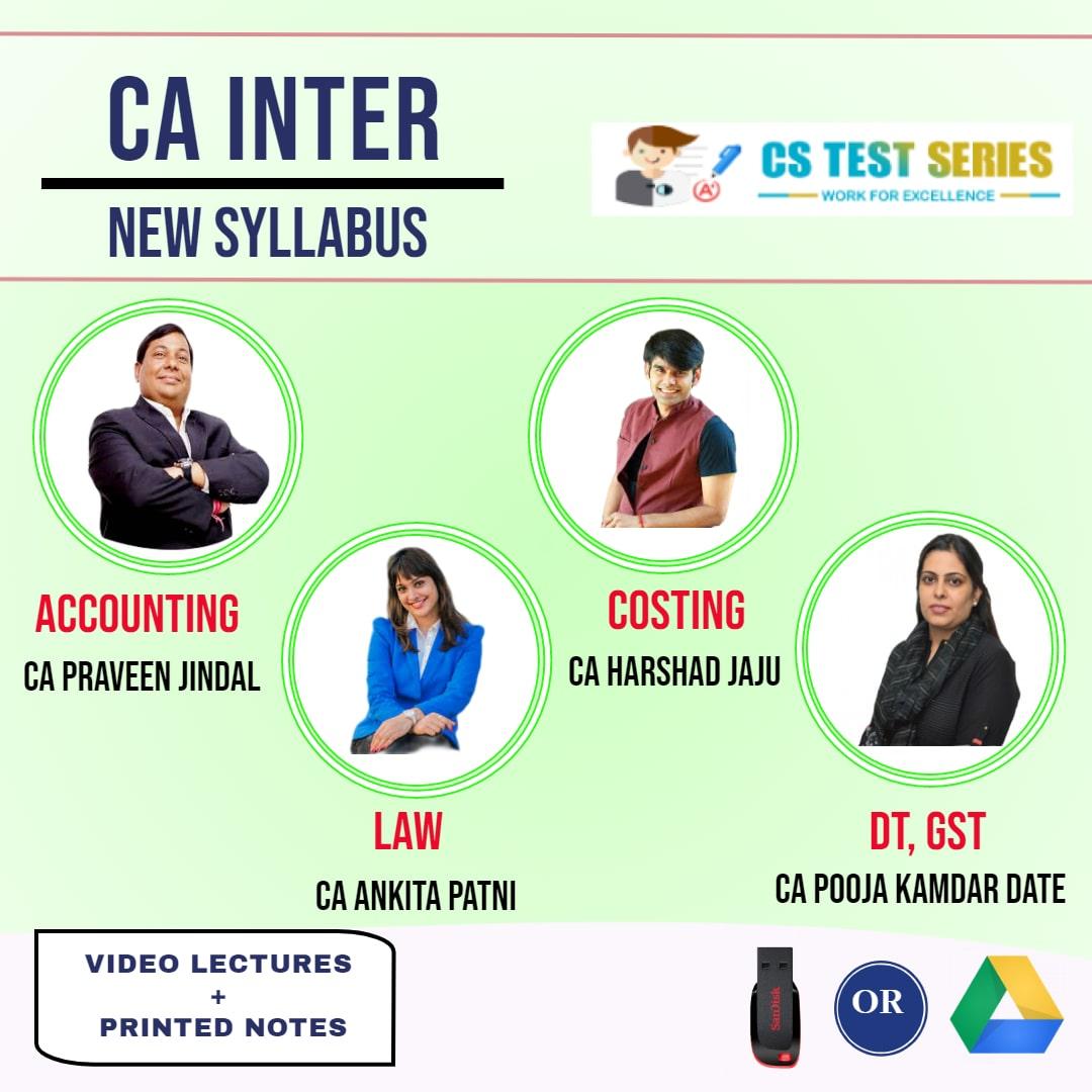 CA INTERMEDIATE COMBO Group 1 Combo Full Lectures By CA pravin jindal   CA Harshad Jaju   CA Pooja kamdar   CA Ankita patni