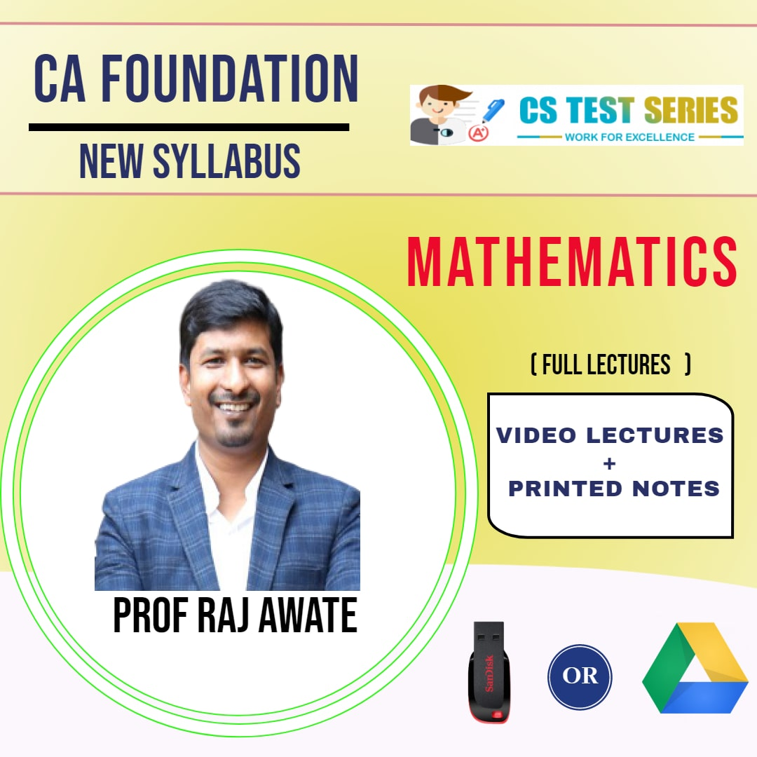 CA FOUNDATION Paper-3: Mathematics Full Lectures By Prof. Raj Awate